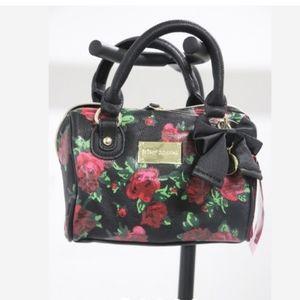 Betsey Johnson Mini Rose Speedy Xbody Bag